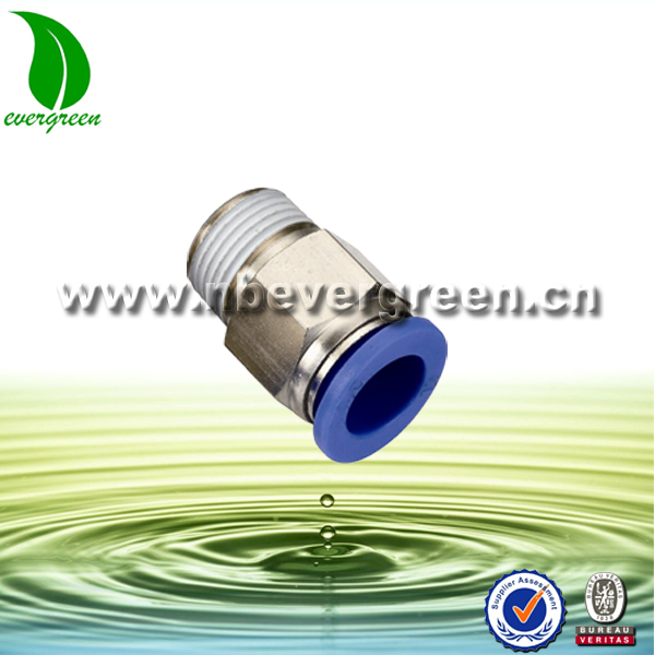 Pneumatic Push In Tube Fitting Male Straight Coupling