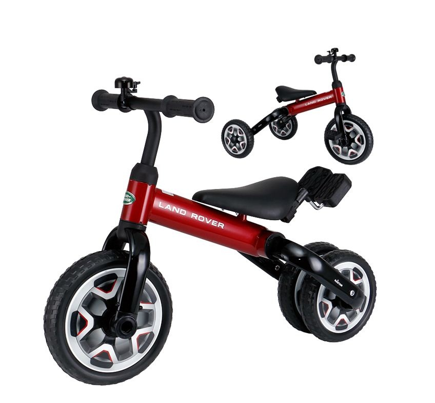 RASTAR ride on toy LAND ROVER 2 in 1 carbon balance baby bike/tricycle
