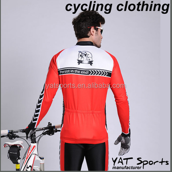 custom design Sublimation printing road and mountain cycling winter long  sleeve bike jersey 655c2b8a4