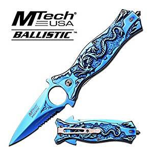"""MT-A707TBL MTECH USA MT-A707TBL """"4.5"""""""""""" CLOSED SPRING ASSISTED FOLDER fix knife steel 50x11rwal556 q5l67ibz sharp edge blade"""