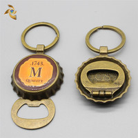 Custom Beer Cap Bottle Opener Keychain Factory Directly Supply