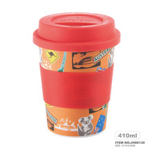 silicone lid and sleeve Bamboo Powder High Quality Silicone Cup