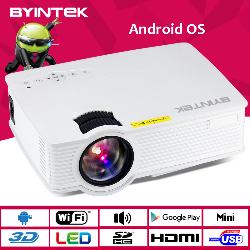 Byintek Hot Selling Android Mini Projector 1080P HD HDMI Digital portable projecto LCD LED WIFI Smart Projector Proyector Beamer