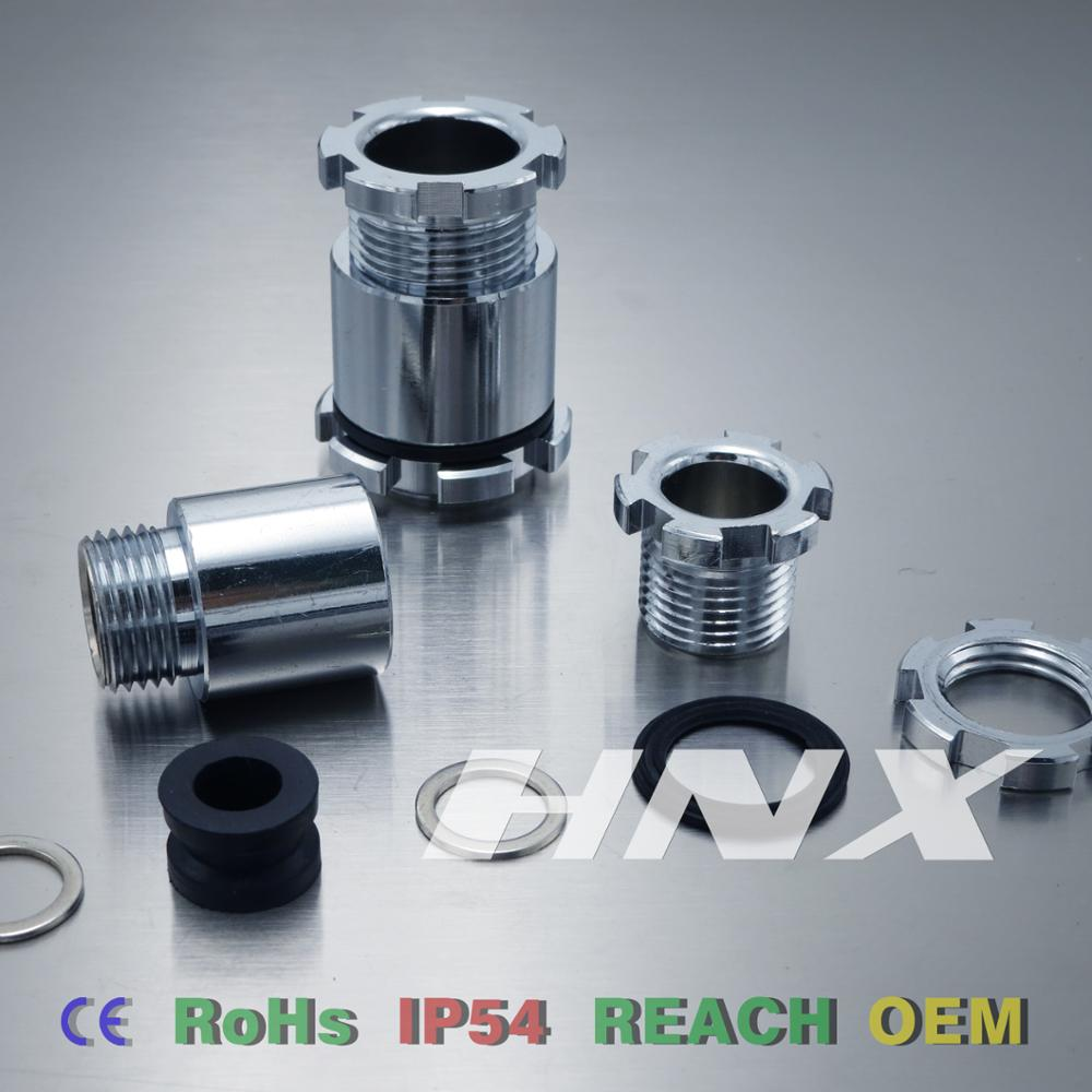 HNX Free Sample IP54 JIS type brass spiral waterproof cable gland