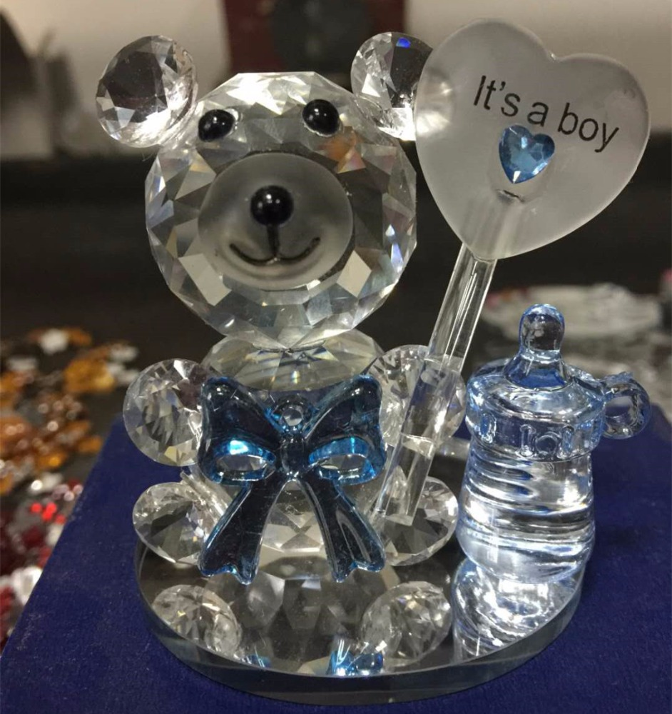 Nuovo Design Bella Orso Di Cristallo Ciuccio Baby Shower Favori Regali Souvenir