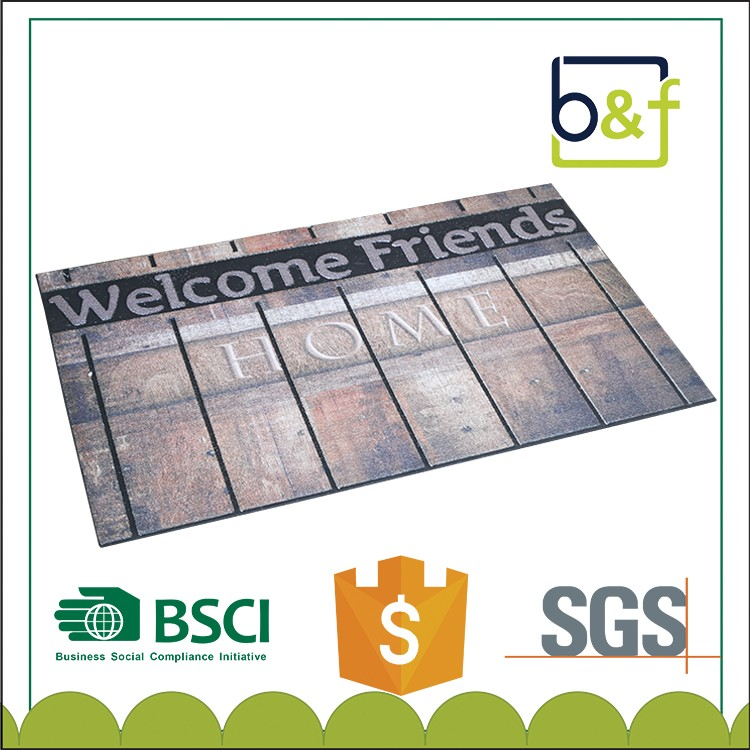 New Arrival Fashionable Rubber Flocking Print Door Rug