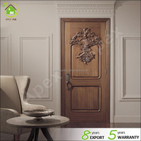 Exterior single door new design white oak wood walnut wood for home or hotel