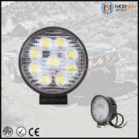 Factory price !Round Led Work Light 24v led trailer lights 27w off road car part