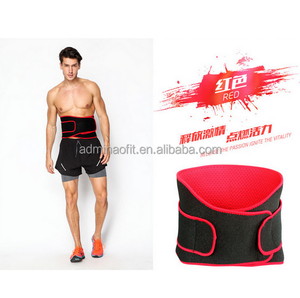 Manufacturer adjustable gym outdoor fitness sport custom back waist support belt for athlete