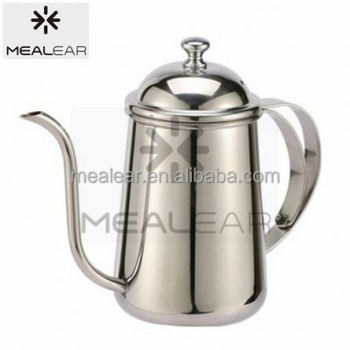 mealear stainless steel long spout pour over coffee pot/coffe kettle