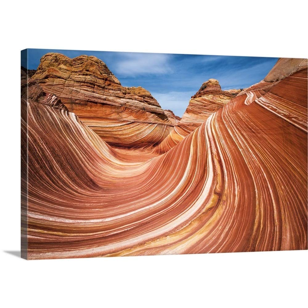 """Gallery-Wrapped Canvas Entitled The Wave, Coyote Buttes, Paria-Vermilion Cliffs Wilderness, Arizona Russ Bishop 24""""x16"""""""