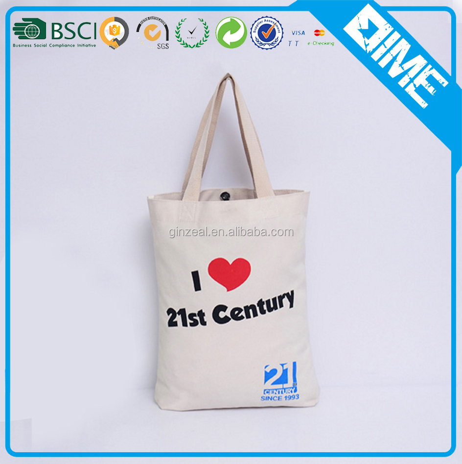 Custom Cheap Promotional Canvas Wholesale Cotton Tote Bags With Printing