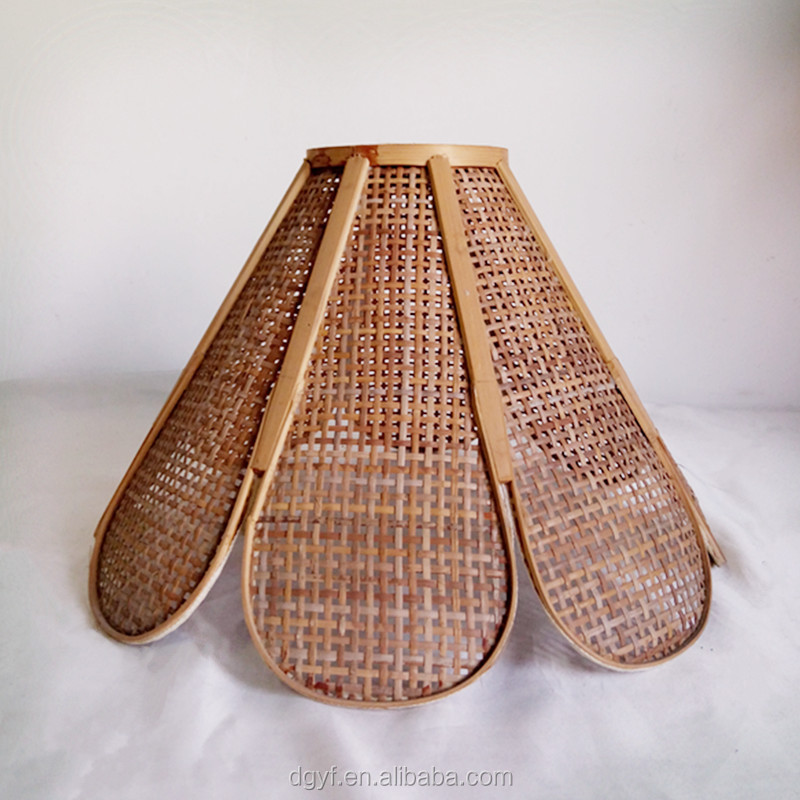 flower shape rattan lamp shades for ceiling lamp in hotel or restaurant