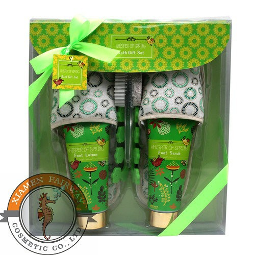 OEM relaxing foot care gift set with foot scrub/ foot lotion