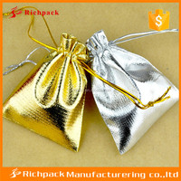 Chinese quality fashion jewelry protection gold or silver pouch bag