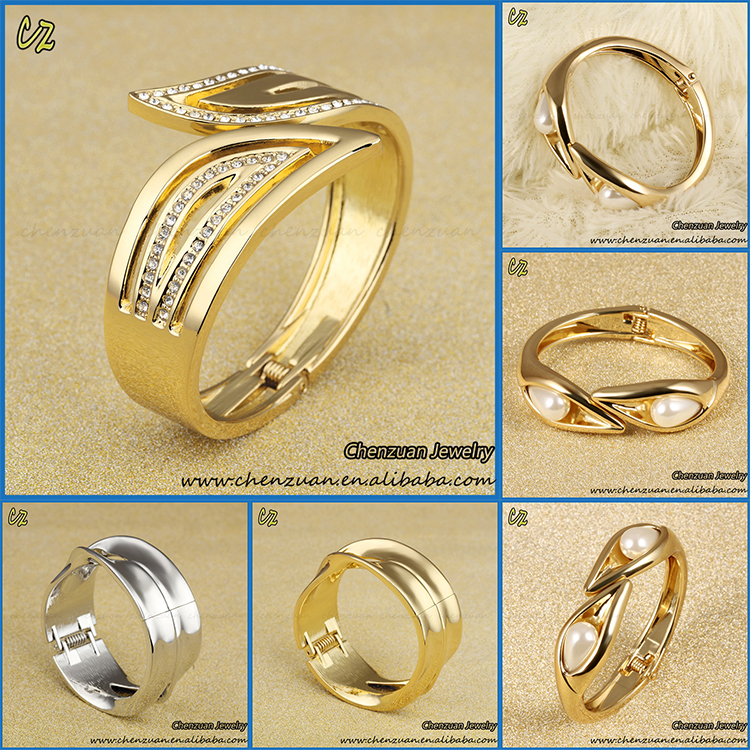New Design Saudi Gold Jewelry 18k Solid Gold Plated Bangles Buy