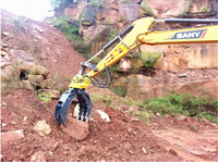 Excavator Rugged Tine Easy Access Rock Metal Object Grapple Secondary Demolition