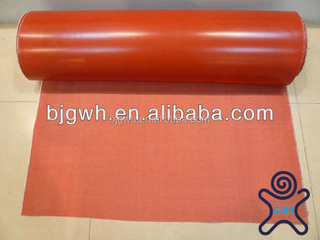 hot sale red flexible silicone fiberglass blanket