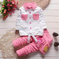baby clothing set 2016 new spring andautumn girl clothes lovely children suit small birds culottes coat