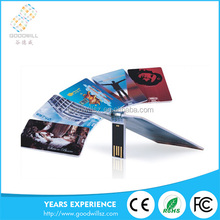 Credit Card Usb Flash Drive promotional business card 2.0 usb flash drive with colorful printing