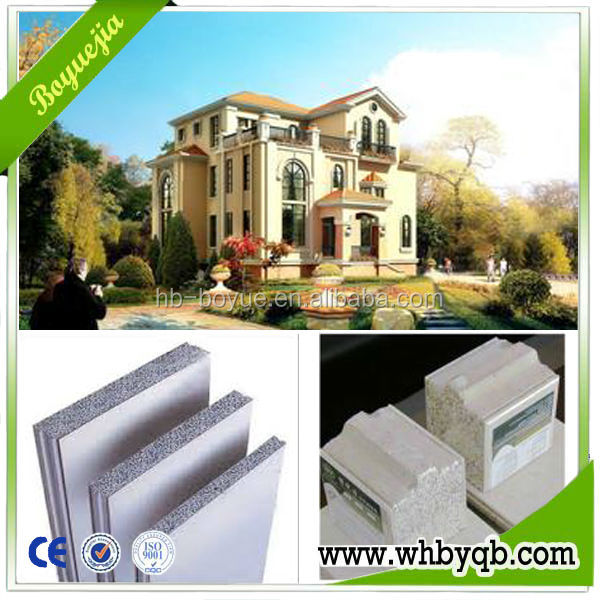 CE approved 120mm thickness sound insulation eco-friendly acid-resistant adhesive wall panel