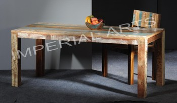 Indian Recycled Wood Dining Table For Home Furniture