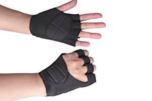Neoprene Weight lift Training Workout GYM Palm Exercise Sport Fingerless Gloves