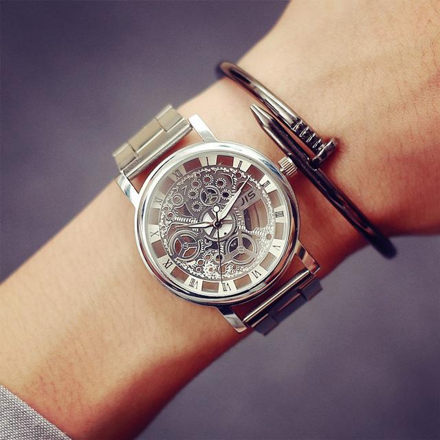 2016 Новая Мода JIS Часы Золотой Цвет Мужские Часы