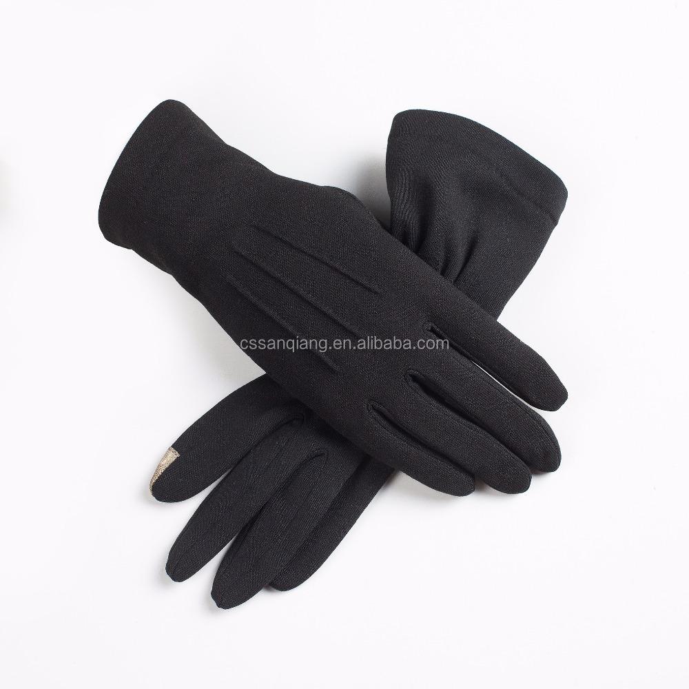 Black usher gloves -