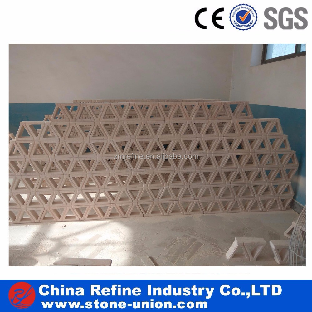 Factory Price Beige Marble Stone Own Design Wall Fence