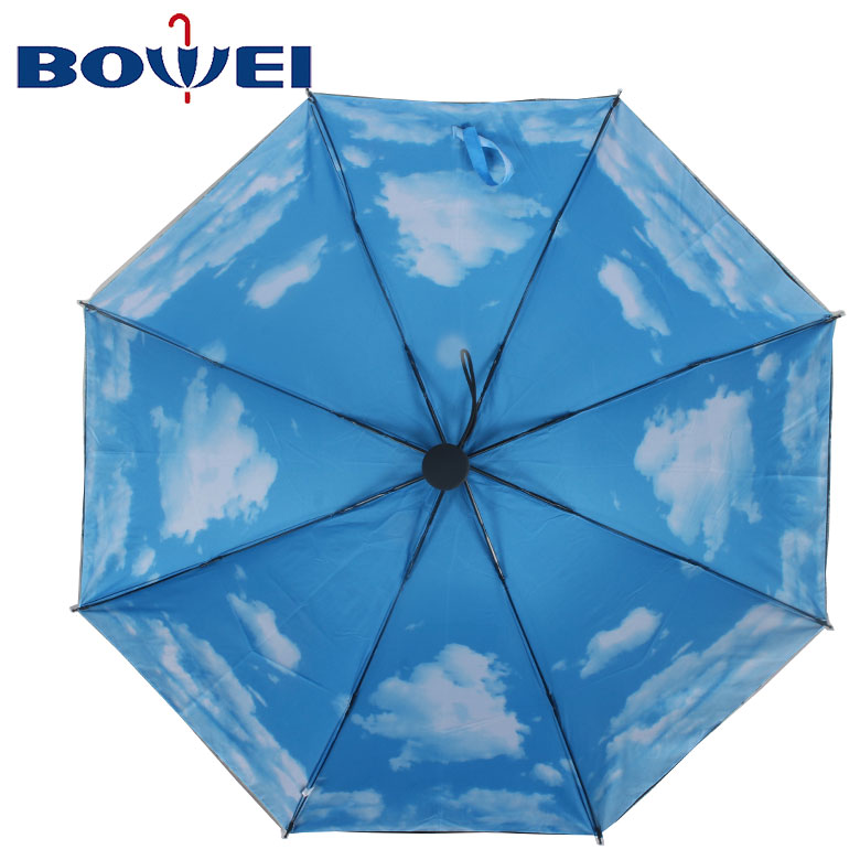 Promotional foldable cheap windproof pure black umbrella with customized logo