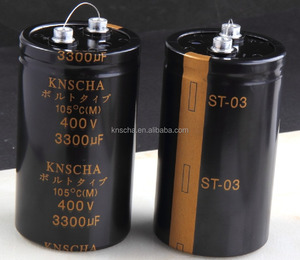 KNSCHA screw aluminum electrolytic capacitor 80v 12000uf with ripple curretnt :85 degree 5000 hours