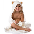 Bamboo baby apron bath towel animal hooded baby bath wrap towel
