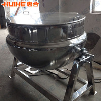 Sweet Processing Tilting Double Steam Jacket Kettle/Restaurant Cooker (With Agitator)