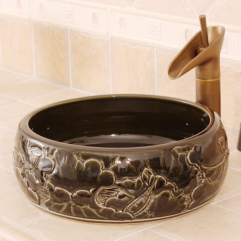 Discount asian goldfish vessel sink
