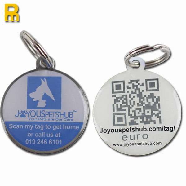 Promotional qr code pet tags wholesale qr code dog tags for Qr code dog tag