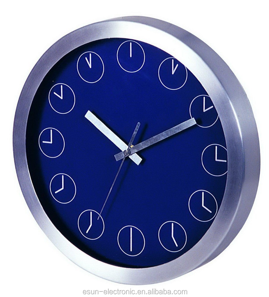 Sweep movement photo frame clock metal wall Clock promotional gift