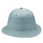 Custom Logo Wholesale Women Plain Fishing cotton fabric Bucket Hat