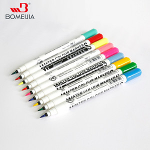Superior 12/24/36 Colors Water Based Water Colour Marker Double Head Fiber Tip for Wholesale
