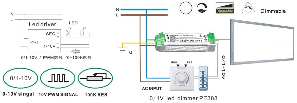 Pe30aa48 30w 600ma Led Driver 1 Pwm Dimming Smps