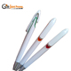 Fancy Feature High Quality Promotional Blank White Clip Click Ballpoint Pens