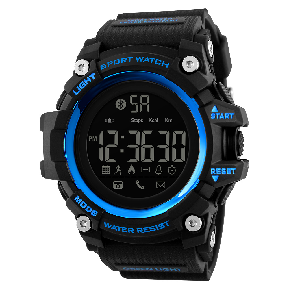 Skmei 1385 Fashion 2018 Smart Watch Military Digital Sports Wrist Watch For Man 50m Waterproof Watches Clock Relojes Hombre, 6-color