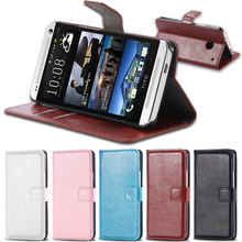 M7 PU Leather Case Full Wallet Cover For HTC ONE M7 Flip With Card Slot & Stand Funciton Cell Phone Case For HTC M7