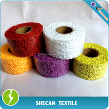 colorful 5cm lace mesh table cover