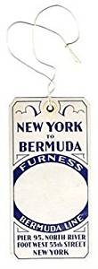 Furness Bermuda Line Baggage Tag STATEROOM New York 1930's