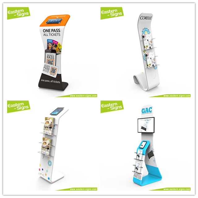 advertising Tablet PC floor stand literature stand for trade show exhibition