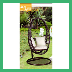 NO.23 outdoor swing egg chair,patio garden swing chairs,living room swing rattan egg chair