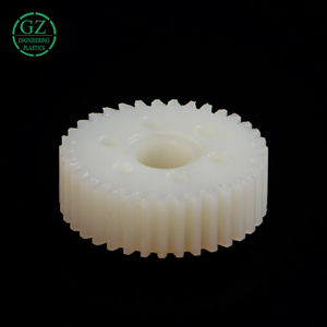 High precision plastic injection molding gear nylon small double spur gear