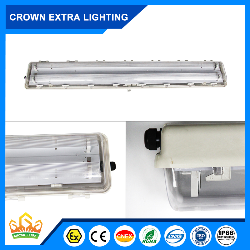 BYS New design explosion proof fluorescent lighting fixture exdeqmb zone 1 zone 2 with high quality