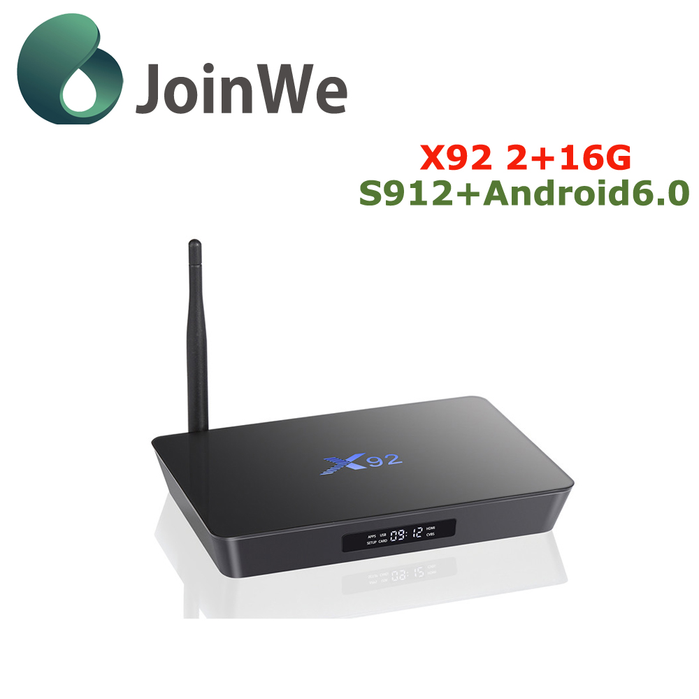 2016 Factory price android S912 media player download video hd songs 2G 16G quad core X92